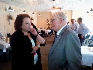 SWEPCO President Venita McCellon-Allen and former Valley Electric board member Bill Bacle of Coushatta